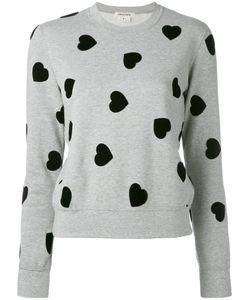 Comme Des Garcons   Comme Des Garçons Flocked Heart Sweatshirt