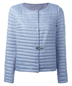 Fay | Collarless Puffer Jacket Large Polyester/Polyamide/Feather Down