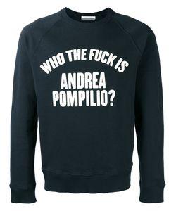 Andrea Pompilio | Slogan Print Sweatshirt 50 Cotton