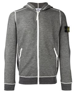 Stone Island | Arm Patch Zipped Hoodie Small Cotton/Polyester