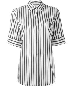 STUDIO NICHOLSON | Striped Shortsleeved Shirt Womens Size 0 Silk