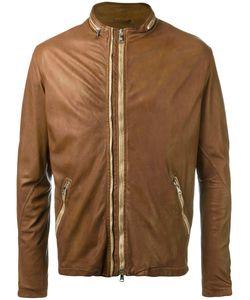 Giorgio Brato | Round Neck Zipped Biker Jacket Size 54