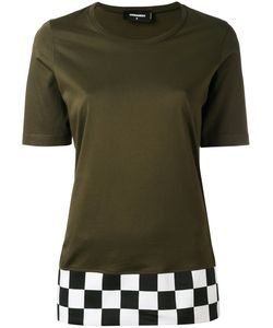 Dsquared2 | Checkered Hem T-Shirt S