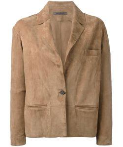 Simonetta Ravizza | One-Button Suede Jacket Size 44