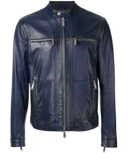 Dsquared2 | Zipped Panel Leather Jacket 52 Cotton/Leather/Polyester