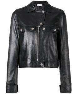 Courreges | Courrèges Cropped Biker Jacket 40 Lamb Skin/Acetate/Cupro