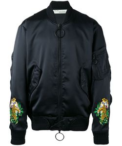 OFF-WHITE | Tiger Embroide Bomber Jacket Small Polyester/Viscose