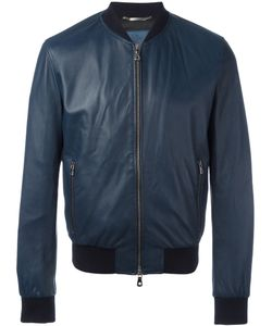 Dolce & Gabbana | Leather Bomber Jacket 48 Calf