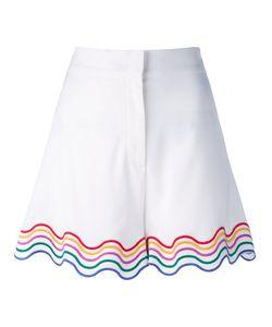 Sara Battaglia   Rainbow Trim Shorts Size 42