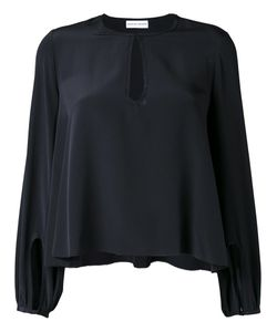 SCANLAN THEODORE | Cdc Picot Cropped Blouse 8 Silk