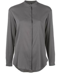 Eleventy | Band Collar Shirt 44 Silk/Spandex/Elastane