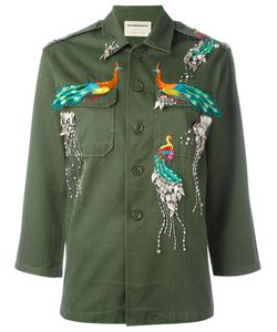 Night Market | Peacocks Military Jacket Cotton/Polyester/Glass/Metal