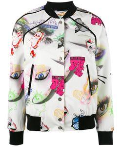 Kenzo | Visage Bomber Jacket Xs Polyester/Polyamide/Spandex/Elastane