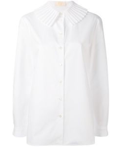 Sara Battaglia | Pleated Collar Shirt