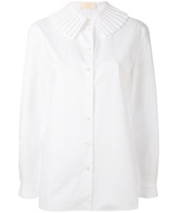 Sara Battaglia | Рубашка С Плиссированным Воротником