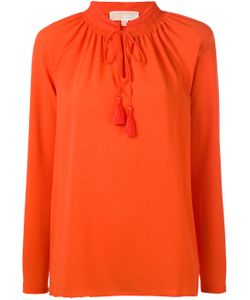 Michael Michael Kors | Embroidered Lace-Up Detail Blouse