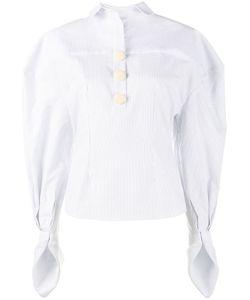 JACQUEMUS | Stripe Puff Sleeve Shirt 38 Cotton