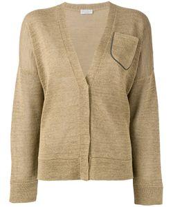 Brunello Cucinelli   Long Sleeve Pocket Cardigan Size Large