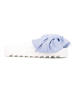 Joshua Sanders | Checked Bow Sandals Size 41