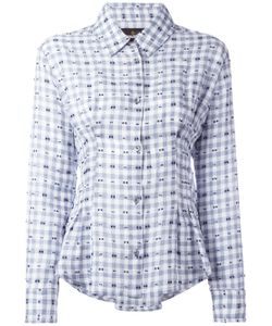 Vivienne Westwood Anglomania | Embroidered Pleated Detail Shirt