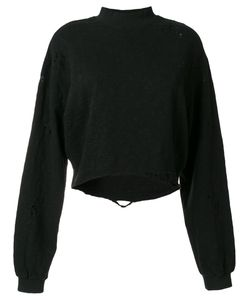 THOM KROM | Distressed Sweatshirt Women Xs
