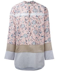 Kolor | Panelled Patterned Shirt 2 Cotton/Tencel