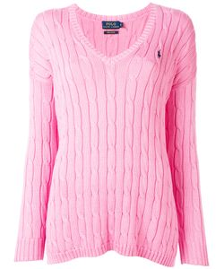 Polo Ralph Lauren   V-Neck Jumper Large Cotton