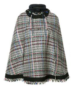 Sacai | Tweed Poncho 2 Nylon/Cupro/Cotton/Acrylic