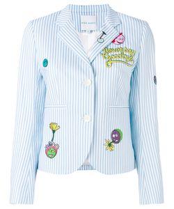 Mira Mikati   Cartoon Patch Striped Jacket