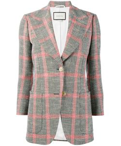 Gucci   Embroide Check Jacket 40 Wool/Cotton/Linen/Flax/Cupro