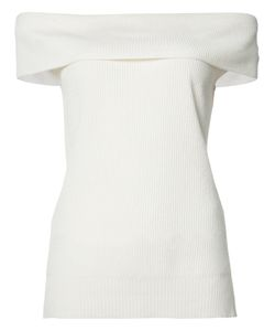 Veronica Beard | Off Shoulder Knit Top Medium Silk/Cashmere