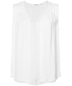 Elie Tahari | Embroide Details Tank Top Xs Silk