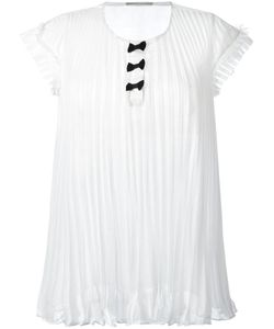 Marco De Vincenzo | Pleated Sheer T-Shirt 44 Polyester