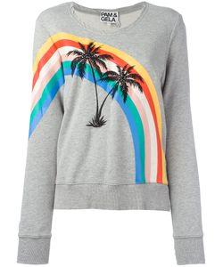 PAM & GELA | Printed Palm Trees Sweatshirt Medium