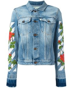 OFF-WHITE | Roses Embroidery Denim Jacket Xl Cotton