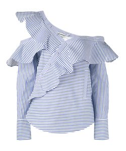 Self-Portrait | Striped Frill Blouse 10
