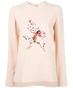 Stella Mccartney | Bird Embroide Sweatshirt 40 Viscose/Acetate/Spandex/Elastane