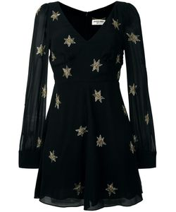 Saint Laurent | Star Embellished Mini Dress 36 Silk