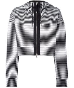 Diesel Black Gold | Cropped Striped Hoodie Small Cotton/Spandex/Elastane/Nylon