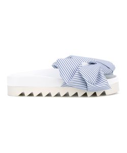 Joshua Sanders | Striped Bow Sandals Size 37