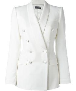 Dolce & Gabbana | Double Breasted Blazer 44 Silk/Polyamide/Spandex/Elastane/Virgin