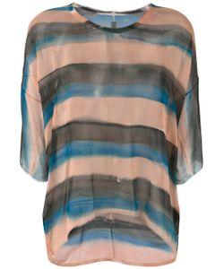 Raquel Allegra   Striped Sheer T-Shirt
