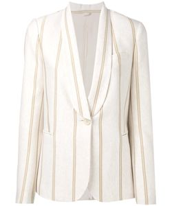 Brunello Cucinelli | Striped Blazer 42 Cotton/Cupro