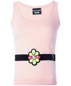 BOUTIQUE MOSCHINO | Embellished Knitted Tank 42 Virgin Wool/Cotton/Other
