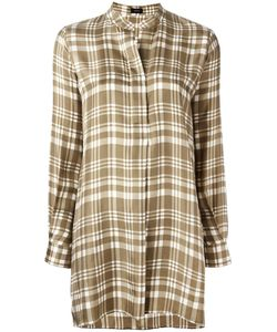 Joseph | Long Checked Blouse 40 Silk
