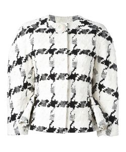 Alexander McQueen | Dogtooth Jacket 40 Silk/Cotton/Linen/Flax/Viscose
