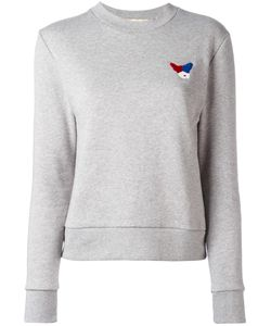 ÊTRE CÉCILE   Être Cécile Chest Embroidery Sweatshirt Small Cotton