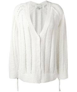 3.1 Phillip Lim | Pointelle Cardigan Medium Wool/Cashmere/Angora/Polyamide