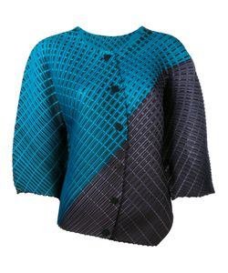 PLEATS PLEASE BY ISSEY MIYAKE   Asymmetric Pleated Blouse