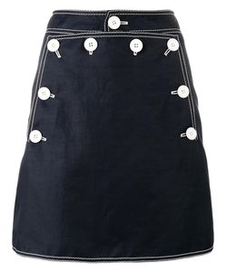 Stella Mccartney | Button Mini Skirt 38 Polyamide/Cotton/Linen/Flax
